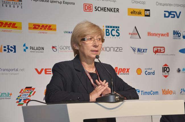 Снежина Баджева, издател и главен редактор на списание Логистика, откри втората годишна Логистична бизнес конференция